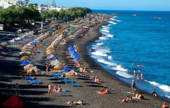 Пляжи на острове Санторини в
