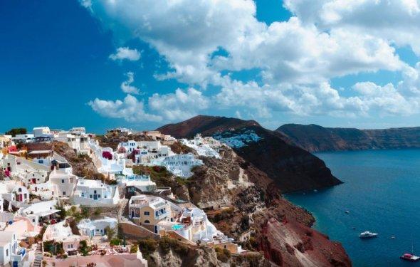 Санторини Остров в Греции